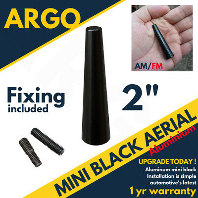 Black Aerial Bee Sting Mast Antenna Ariel Arial Mini Radio Stubby AM FM Short 2  • 3.95£