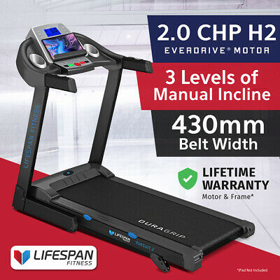 AU799 • Buy Lifespan Fitness PURSUIT2 New Electric Treadmill Quiet EverDrive® Motor FitLink