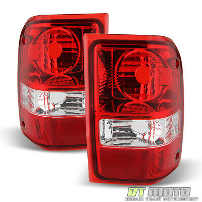$46.99 • Buy 2001-2011 Ford Ranger Red Clear Tail Lights Replacement Lamps 01-11 Left+Right