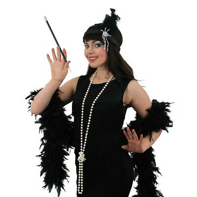 Ladies Flapper Girl Costume Dress Womens Headband Boa Necklace 1920s Fancy Dress • 16.99£