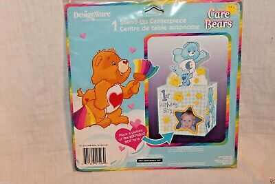 New   Care Bears 1st Birthday Boy Centerpiece Party Supplies   • 2.99£