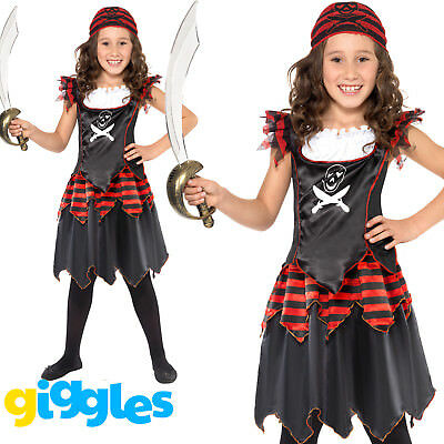 Girls Pirate Costume Childrens Kids World Book Day Week Fancy Dress Outfit • 9.92£