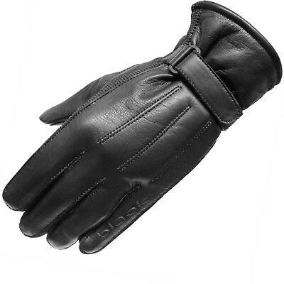 £17.99 • Buy Black Vapour Leather Motorcycle Motorbike Cruiser Bike Scooter Stretch Gloves