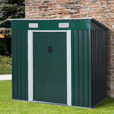 £239.99 • Buy Outsunny 6x4ft Metal Garden Storage Shed Lockable Patio Tool Kit Free Foundation