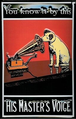 HMV Nipper  You Know It By This  Embossed Sign   300mm X 200mm  (hi) • 18.99£