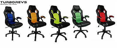 £69.99 • Buy Racing Sport Bucket Computer Desk Gaming Office Chair Seat Faux Leather Mesh