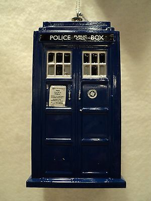 KSA  DR. WHO ~ TARDIS  Ornament ~ Blown Mold Plastic ~ New • 5.20£