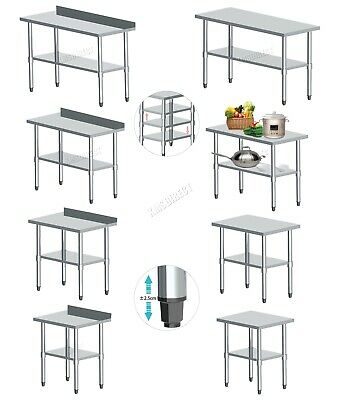 £114.99 • Buy WestWood Stainless Steel Commercial Catering Table Work Bench Kitchen Top New