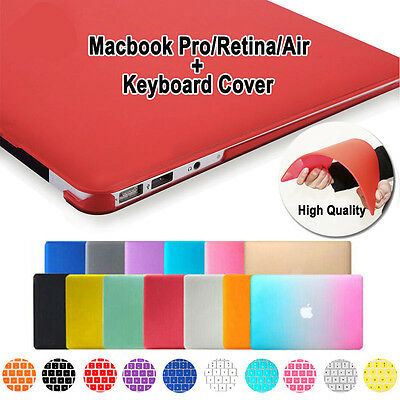 $13.89 • Buy Rubberized Hard Case Shell+ Keyboard Cover For Macbook Pro 13/15  Air 11/13 Inch