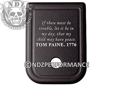 $19.99 • Buy For Glock Magazine Plate 17 19 22 23 26 27 34 35 9mm 40cal Thomas Paine