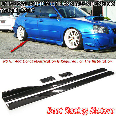 $144.99 • Buy Universal Bottom Line CS Style Side Skirts 212CM (ABS)