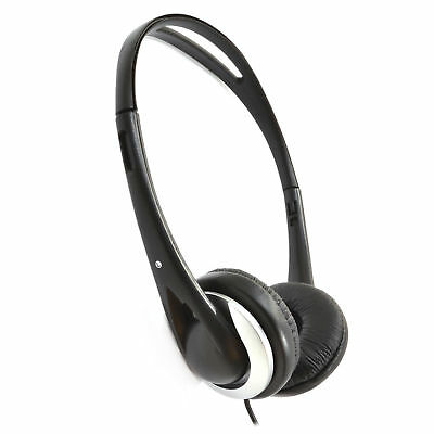 £11.24 • Buy 6m Stereo/Mono Super Bass Sound Cushioned TV Headphones - Long Cable [008117]