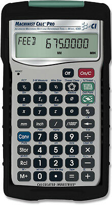$89.95 • Buy Calculated Industries Machinist Calc Pro International 4089 Calculator With Case