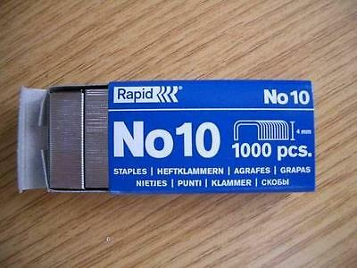 £2.09 • Buy Rapid Number No. 10 (Fit Rexel 4mm X 9mm) Staple X Box Of 1000 Staples