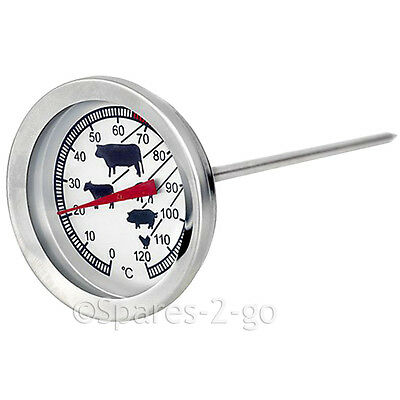 £8.59 • Buy Meat Poultry Food Thermometer BBQ Oven Temperature Cooking Probe Stainless Steel