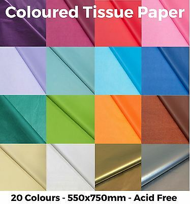£4.13 • Buy Coloured Tissue Paper - High Quality & Acid Free - 500mm X 750mm - 20 Colours