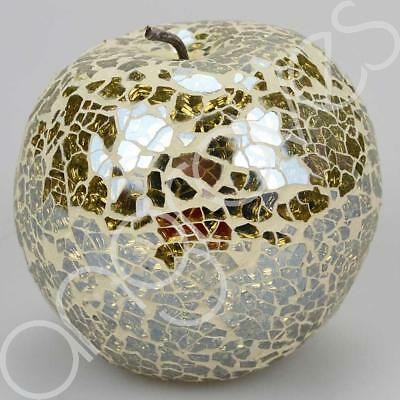 £9.95 • Buy Mosaic Glass Apple (Gold) Home Decorative Decor Fruit Display Piece Gift