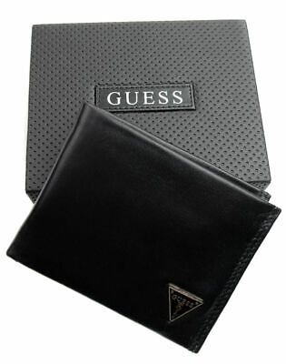 $26.99 • Buy Guess Men's Leather Credit Card Id Wallet Passcase Bifold Black 31GU22X030