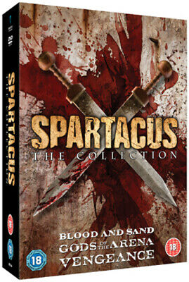 Spartacus Collection DVD (2012) Andy Whitfield Cert 18 9 Discs Amazing Value • 13.08£