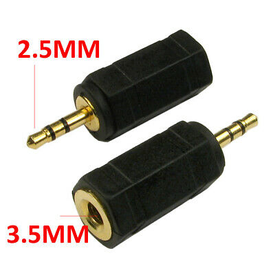 3.5mm Stereo Jack Socket To 2.5mm Stereo Jack Male Plug Adapter [007451] • 1.95£