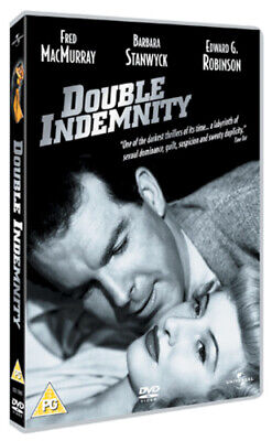 Double Indemnity DVD (2005) Byron Barr, Wilder (DIR) Cert PG Fast And FREE P & P • 2.38£