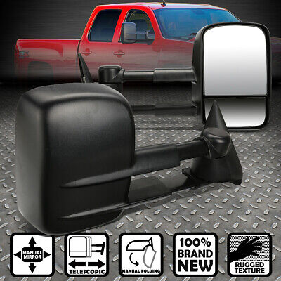 $68.66 • Buy Pair Telescopic Dual Extendable Arm Rear Towing Side Mirror For 99-06 Chevy/gmc