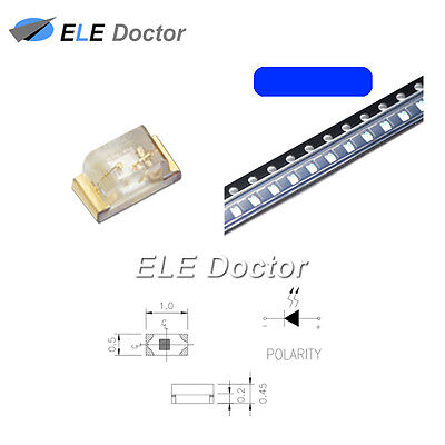 $32.49 • Buy 1000PCS SMD SMT 0402 (1005) LED Blue Light Emitting Diodes Super Bright Chip
