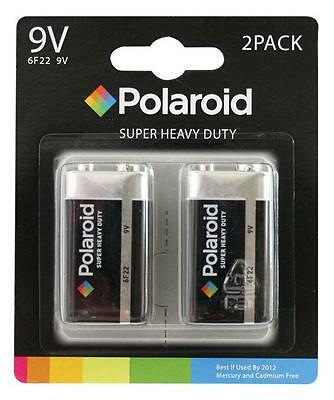 2 X Polaroid PP3 9v 6F22 Heavy Duty Batteries Mercury Free Battery Sealed Pack • 2.59£