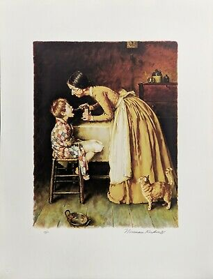 $ CDN2986.81 • Buy Norman Rockwell   Medicine  1976 | Tom Sawyer | Signed Print | Make An Offer