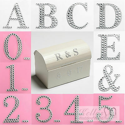 £1.14 • Buy Self Adhesive 3D Numbers & Letters 5cm Large Diamante Glitter Stickers Craft