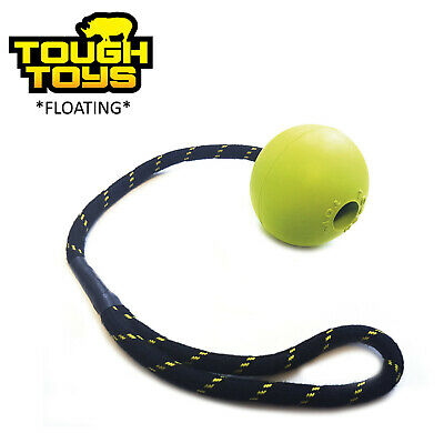 £9.49 • Buy Tough Toys Jumbo 3.25   Rubber Floating Ball On Rope Dog Toy Fetch Game Tt0212