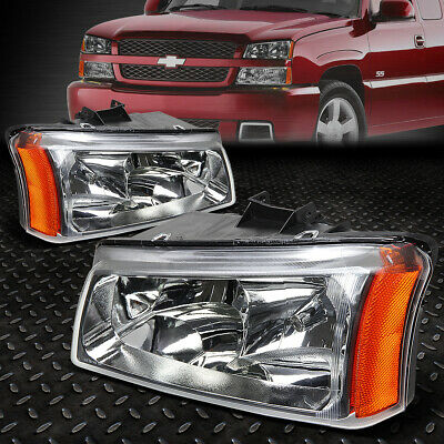 $54.33 • Buy For 03-06 Chevy Silverado Avalanche Chrome Housing Amber Corner Headlight Lamps