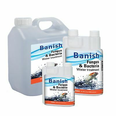 £8.45 • Buy Banish Fungus And Bacteria Water Treatment Cure Koi Pond Disease Infection Fish
