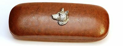 Wolf Head Leather Effect PU Glasses Case Hunting Shooting Gift Present 400 • 14.99£