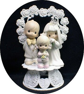£90.57 • Buy Wedding Cake Topper Precious Figures Bride Groom Moments Family Daughter Child