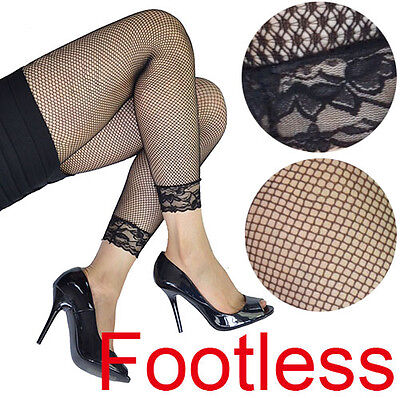 AU7.99 • Buy Lace Cuff Fishnet 80s 80's 70's 70s Party Costume Footless Legwear Leggings