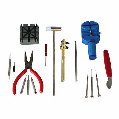 $ CDN8.85 • Buy 16pcs Watch Repair Tool Kit Link Remover Screwdriver Spring Bar Tool Case Opener