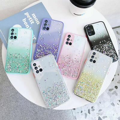 $ CDN4.30 • Buy Glitter Silicone Case For Samsung Galaxy Note 10 Plus S20 S10 A51 A71 A90 Cover