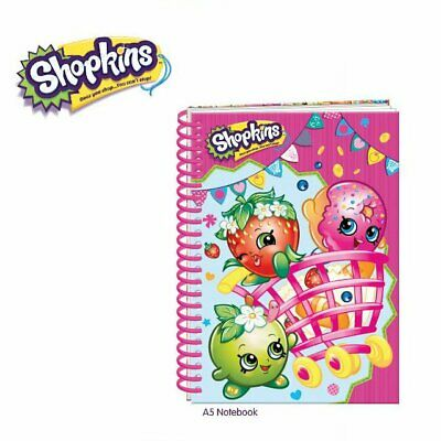 £3.79 • Buy Girls Childrens Spiral Bound Shopkins A5 Ruled Notebook Pad Party Gift Bag