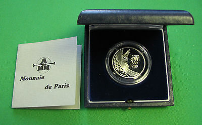 $ CDN69 • Buy 1989 5 Francs Proof Silver Tour Eiffel With CAO And BOX