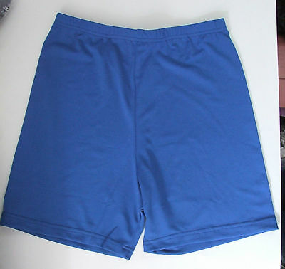 Ladies/Girls 34in Waist Lycra Gym Shorts Netball Knickers Cycle Short Royal Blue • 8.49£