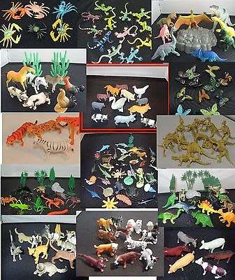 £5.50 • Buy CLEARANCE REDUCED Plastic Farm Wild Zoo Animal Dinosaurs Bugs Cats Dogs Sets