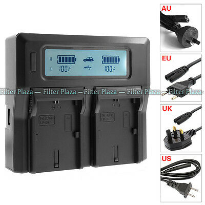 £18.83 • Buy LCD Dual Battery Charger For Canon LP-E6 LC-E6E 5D Mark II III 5Ds 70D 80D 7D 6D