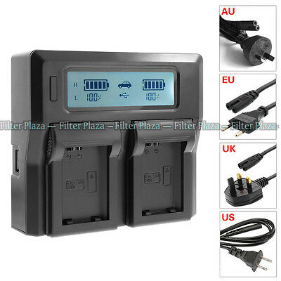 $ CDN34.74 • Buy LCD Dual 2-Battery Charger For Sony NP-FW50 A5100 A6500 A7R A7S A7 II NEX7 AC/DC