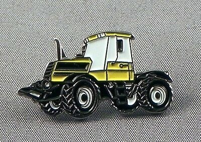 Metal Enamel Pin Badge Brooch Tractor Earth Mover JC Digger Yellow • 2.29£
