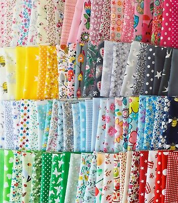 £6.95 • Buy Mixed 100% Cotton Fabric Material Joblot Value Bundle Scraps Offcuts Quilting