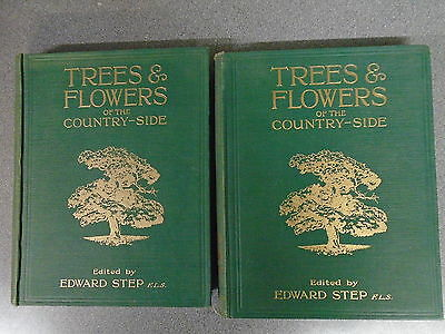 TREES & FLOWERS OF THE COUNTRY-SIDE VOL I & II Ed By EDWARD STEP - HUTCHINSON HB • 19.99£