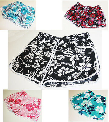 New Ladies Womens Girl Floral Flower Print Beach Board Swimming Hot Pants Shorts • 5.99£