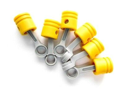 £3.46 • Buy LEGO 6 Yellow Technic Engine Pistons With Connecting Rods NEW 42043
