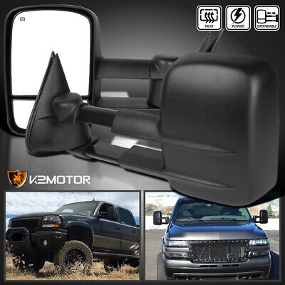 $100.38 • Buy For 1999-2002 Chevy Silverado/Sierra Power+Heated Tow Side Mirrors Left+Right